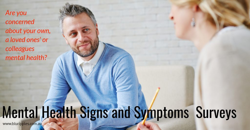 Mental Health Signs and Symptoms Surveys - Blu Ripples