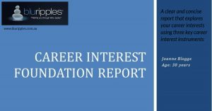 Career Interest Foundation Report - Blu Ripples