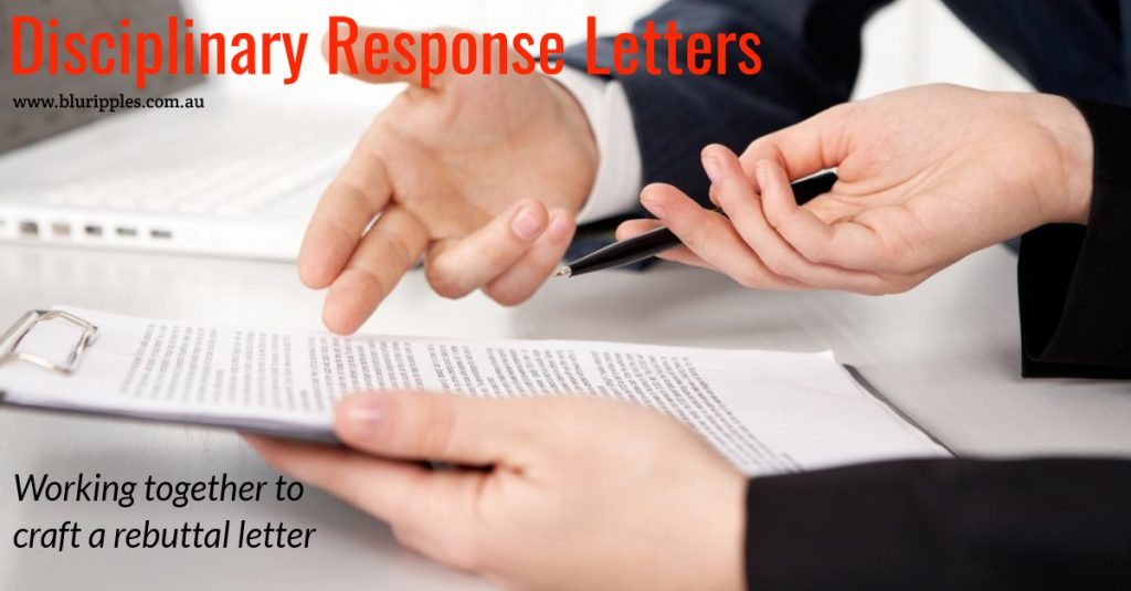 Disciplinary Response Letters - Blu Ripples