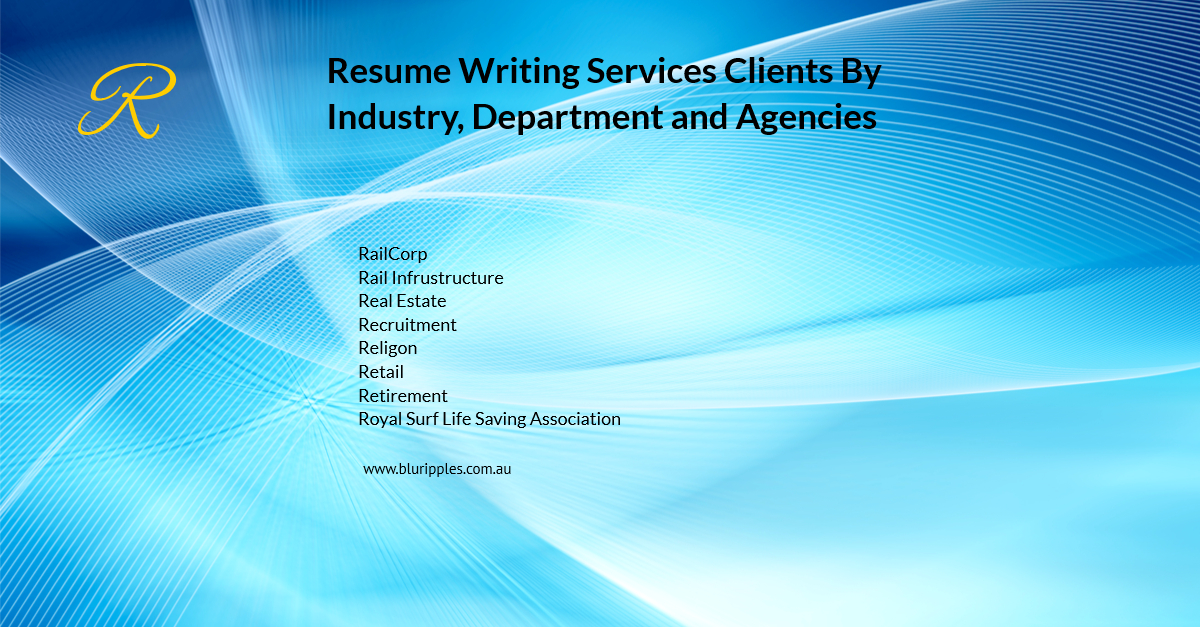 Resume Writing Services - Clients By Industry Department Agencies - R - Blu Ripples - Jan 2020