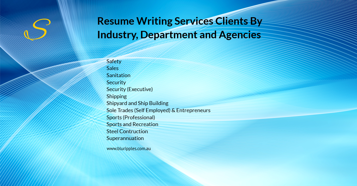 Resume Writing Services - Clients By Industry Department Agencies - S - Blu Ripples - Jan 2020