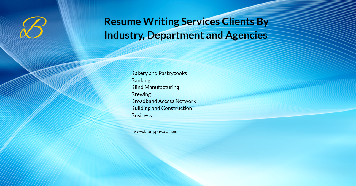 Resume Writing Services - Clients By Industry Departments Agencies - B - Blu Ripples - Jan 2020