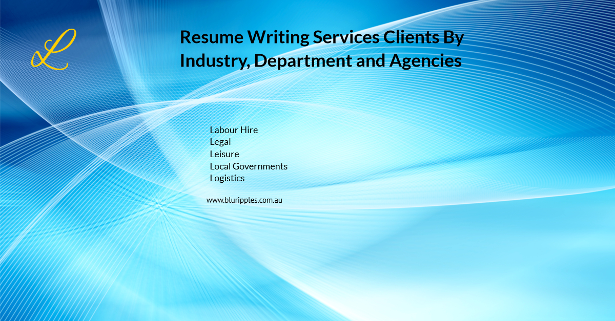 Resume Writing Services - Clients By Industry Departments Agencies - L- Blu Ripples - Jan 2020
