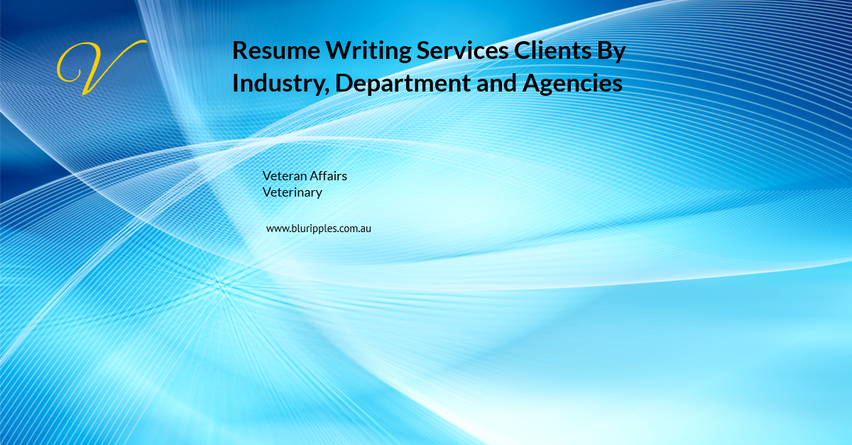 Resume Writing Services - Clients By Industry Departments and Agencies - V - Blu Ripples - Jan 2020
