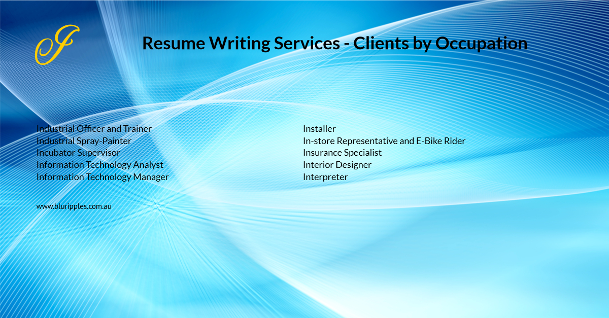 Resume Writing Services - Clients By Occupation - I - Blu Ripples - Jan 2020