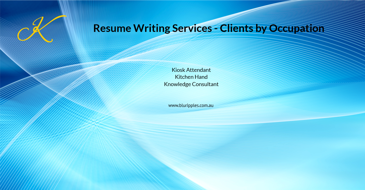 Resume Writing Services - Clients By Occupation - K - Blu Ripples - Jan 2020