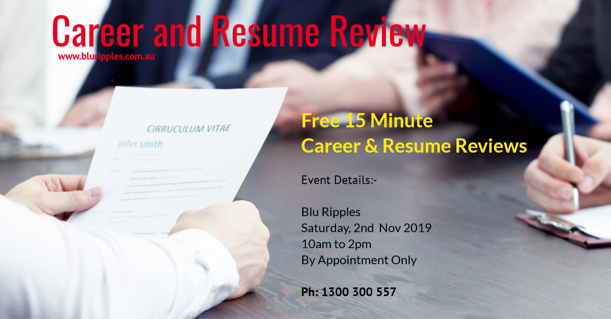 Career and Resume Review - Nov 2019